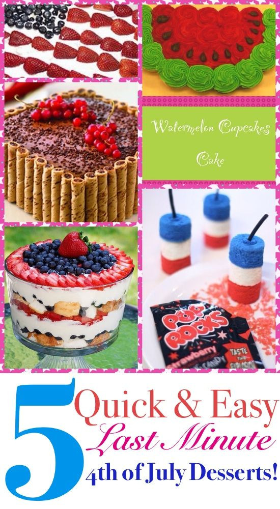 Quick And Easy Fourth Of July Desserts  5 Quick and Easy Last Minute Fourth of July Desserts