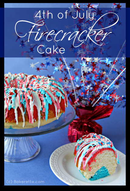 Quick And Easy Fourth Of July Desserts  4th of July Firecracker Cake