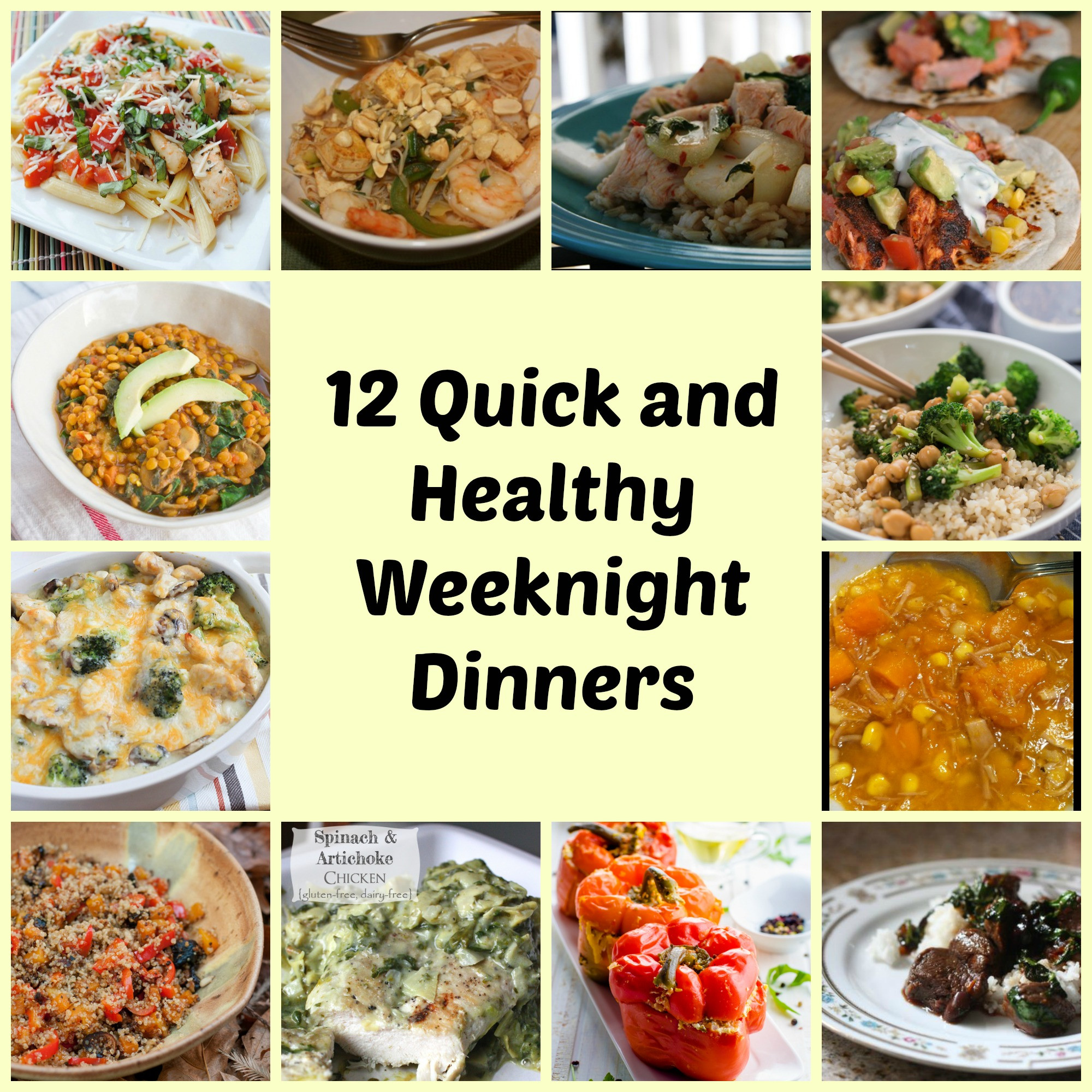 Quick And Easy Healthy Dinners  12 Easy weeknight meals training plans