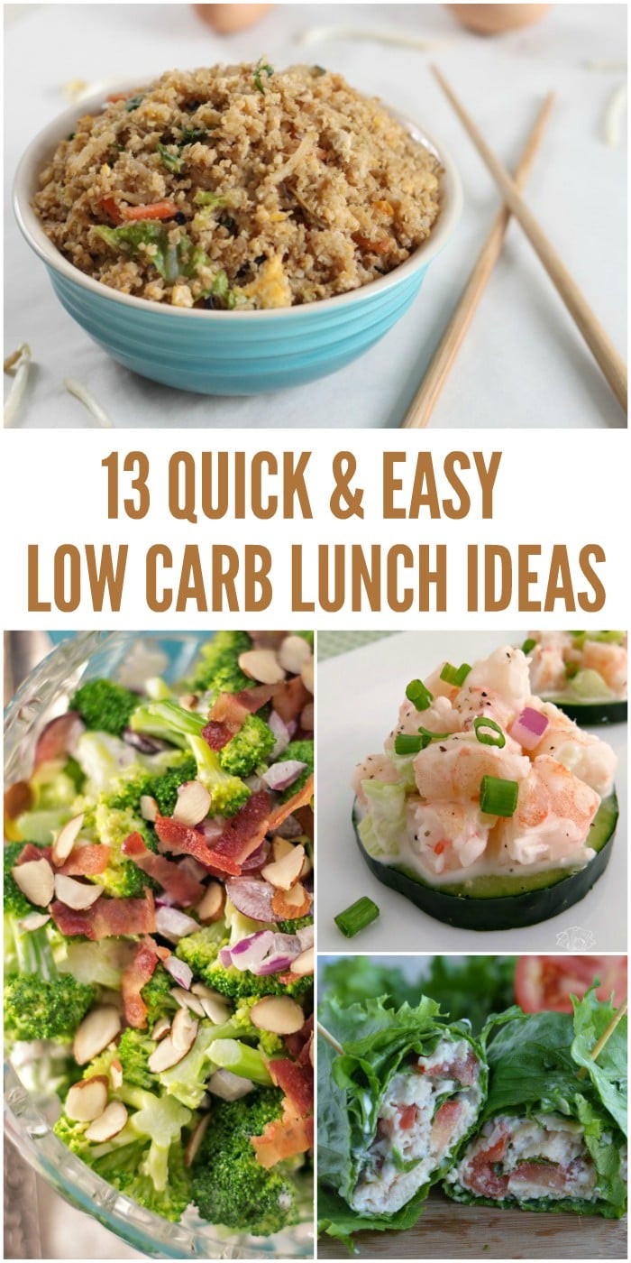 Quick And Easy Healthy Lunches  13 Easy Low Carb Lunch Ideas That Don t Take a Lot of Prep