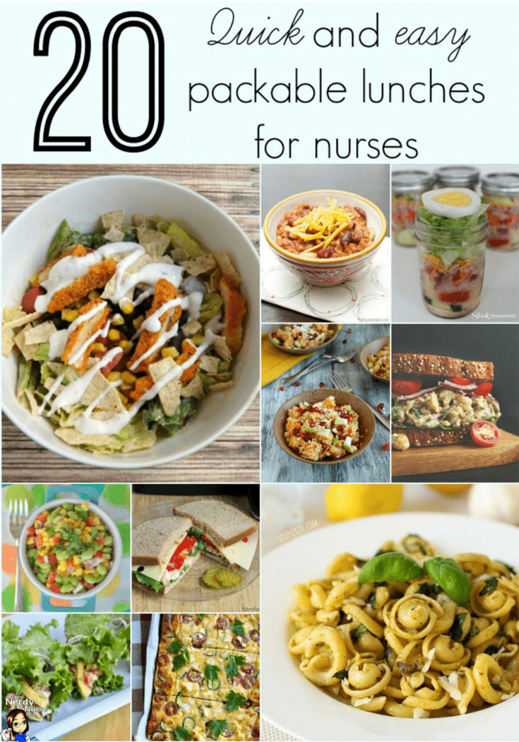 Quick And Easy Healthy Lunches  20 Quick and Easy Packable Lunches for Nurses