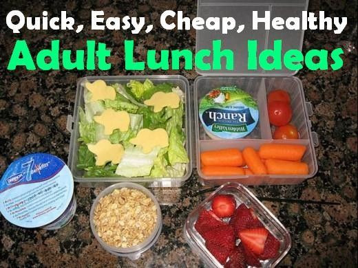 Quick And Easy Healthy Lunches  Quick Easy Cheap and Healthy Lunch Ideas For Work