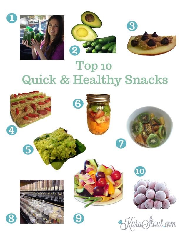 Quick And Easy Healthy Snacks  Top 10 Quick Healthy Snacks