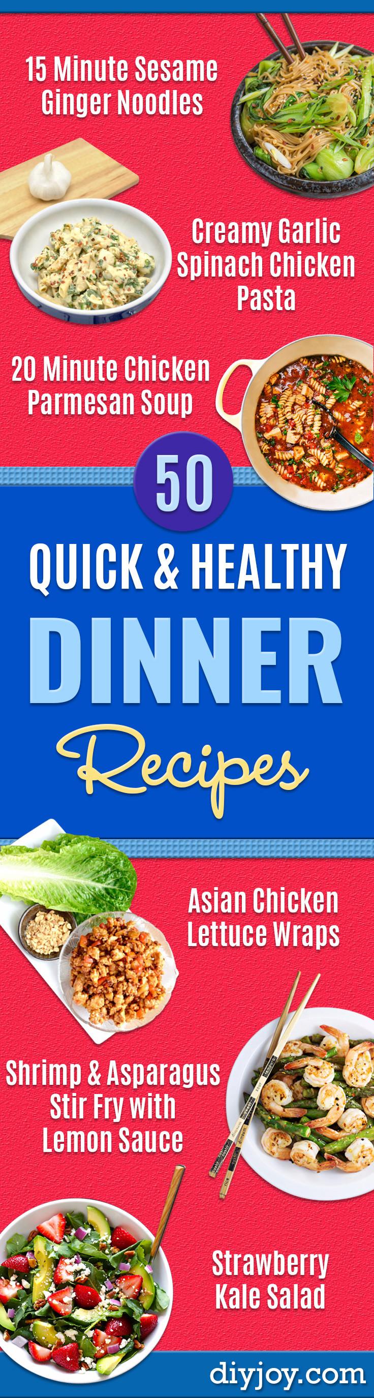 Quick And Healthy Dinners  50 Quick and Healthy Dinner Recipes Easy