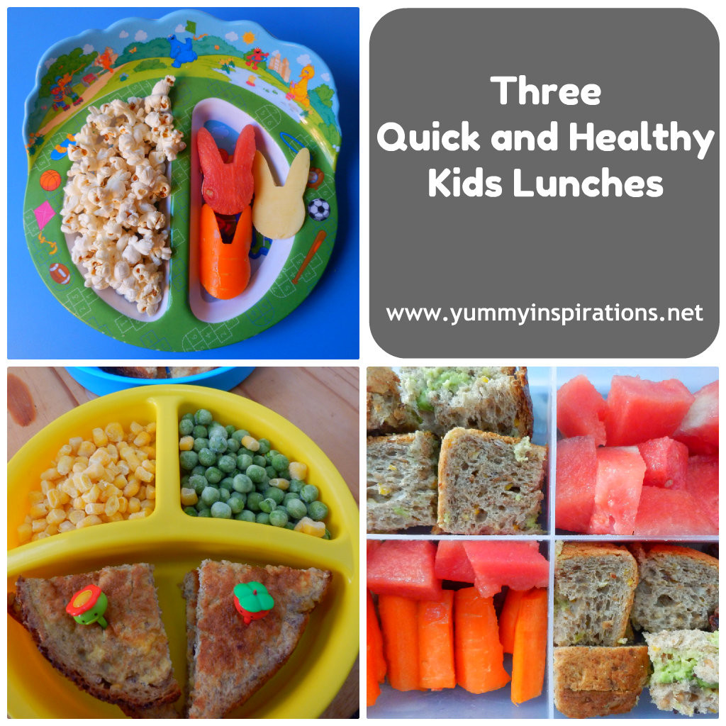 Quick And Healthy Lunches  Three Quick and Healthy Kids Lunches Yummy Inspirations