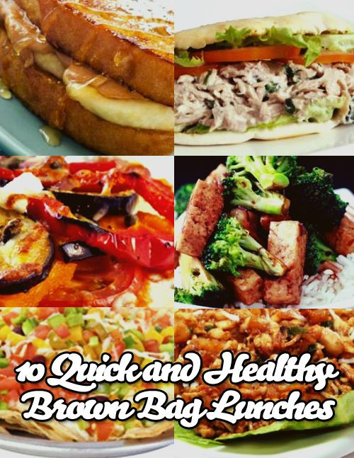 Quick And Healthy Lunches  10 Quick and Healthy Brown Bag Lunches