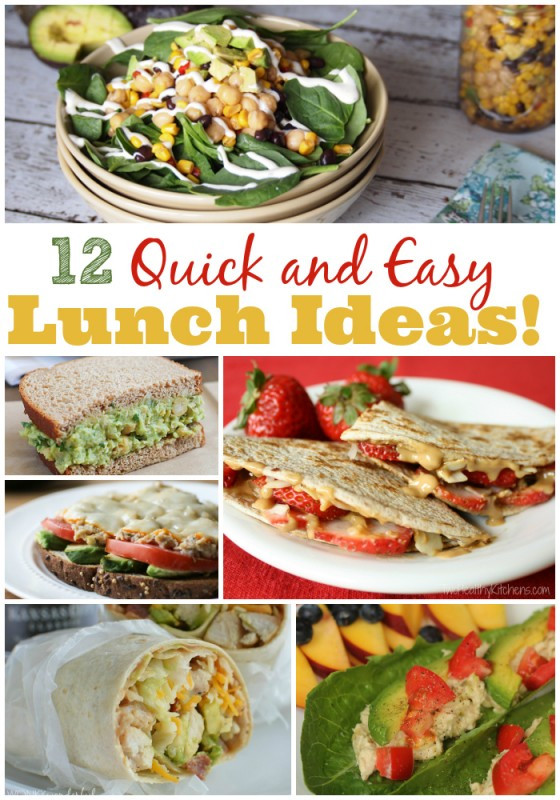 Quick And Healthy Lunches  Quick and Easy Lunch Ideas The Weary Chef