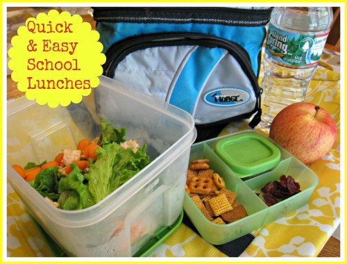Quick And Healthy Lunches  Quick and Healthy School Lunches