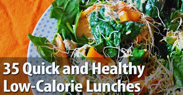 Quick And Healthy Lunches  35 Quick and Healthy Low Calorie Lunches