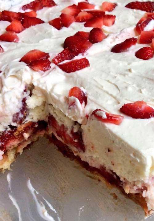 Quick Easy Summer Desserts  No Bake Strawberry Shortcake