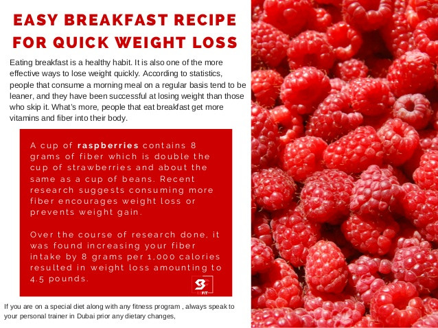 Quick Healthy Breakfast For Weight Loss  Easy breakfast recipe for quick weight loss