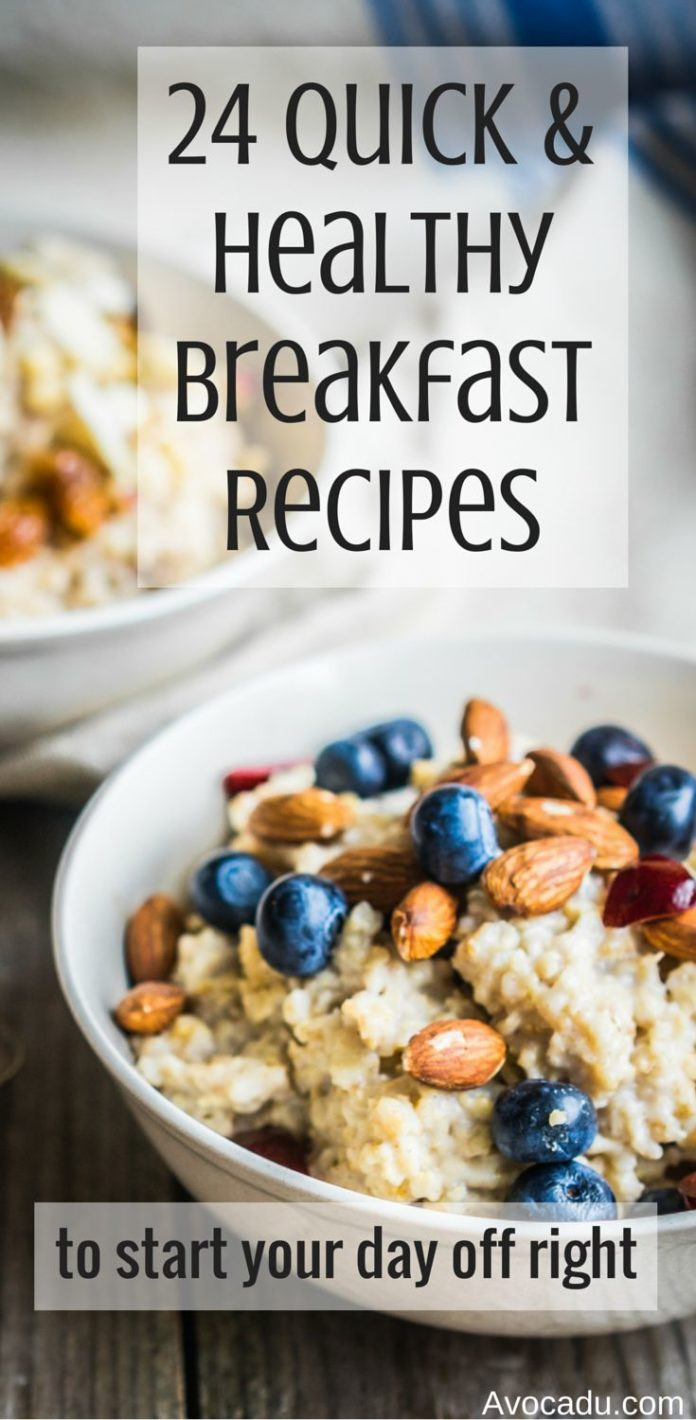 Quick Healthy Breakfast Ideas For Weight Loss  Workouts to Lose Weight Fast 24 quick and healthy