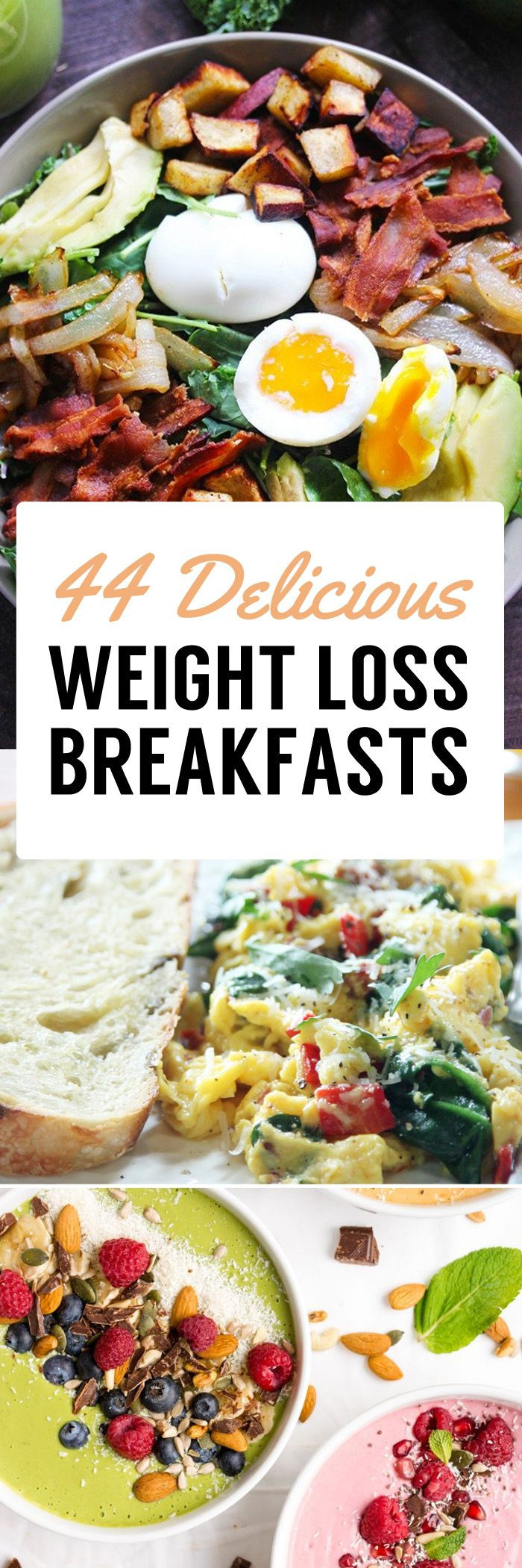 Quick Healthy Breakfast Ideas For Weight Loss  25 bästa Weight loss meals idéerna på Pinterest