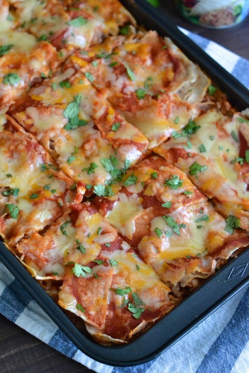 Quick Healthy Casseroles  Quick Weeknight Enchilada Casserole