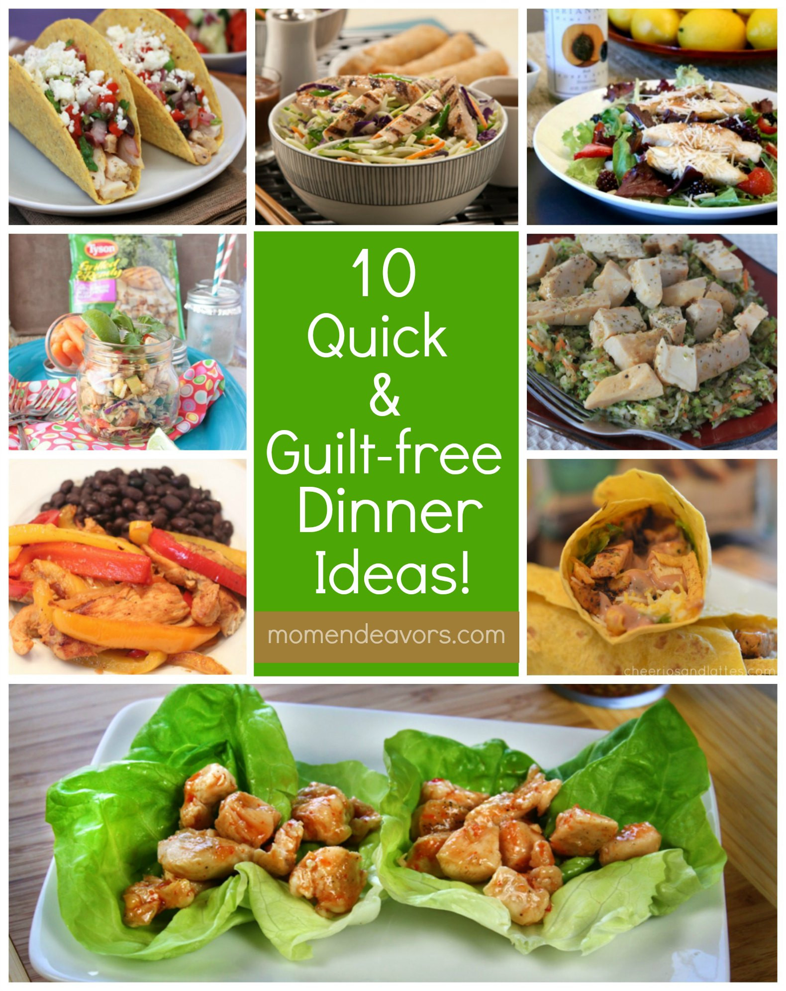 Quick Healthy Dinner Ideas  10 Quick & Guilt Free Dinner Ideas with Tyson Grilled