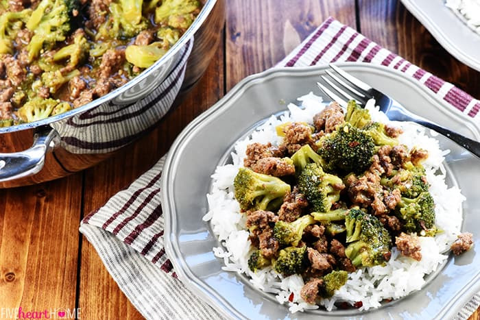 Quick Healthy Ground Beef Recipes  Ground Beef and Broccoli