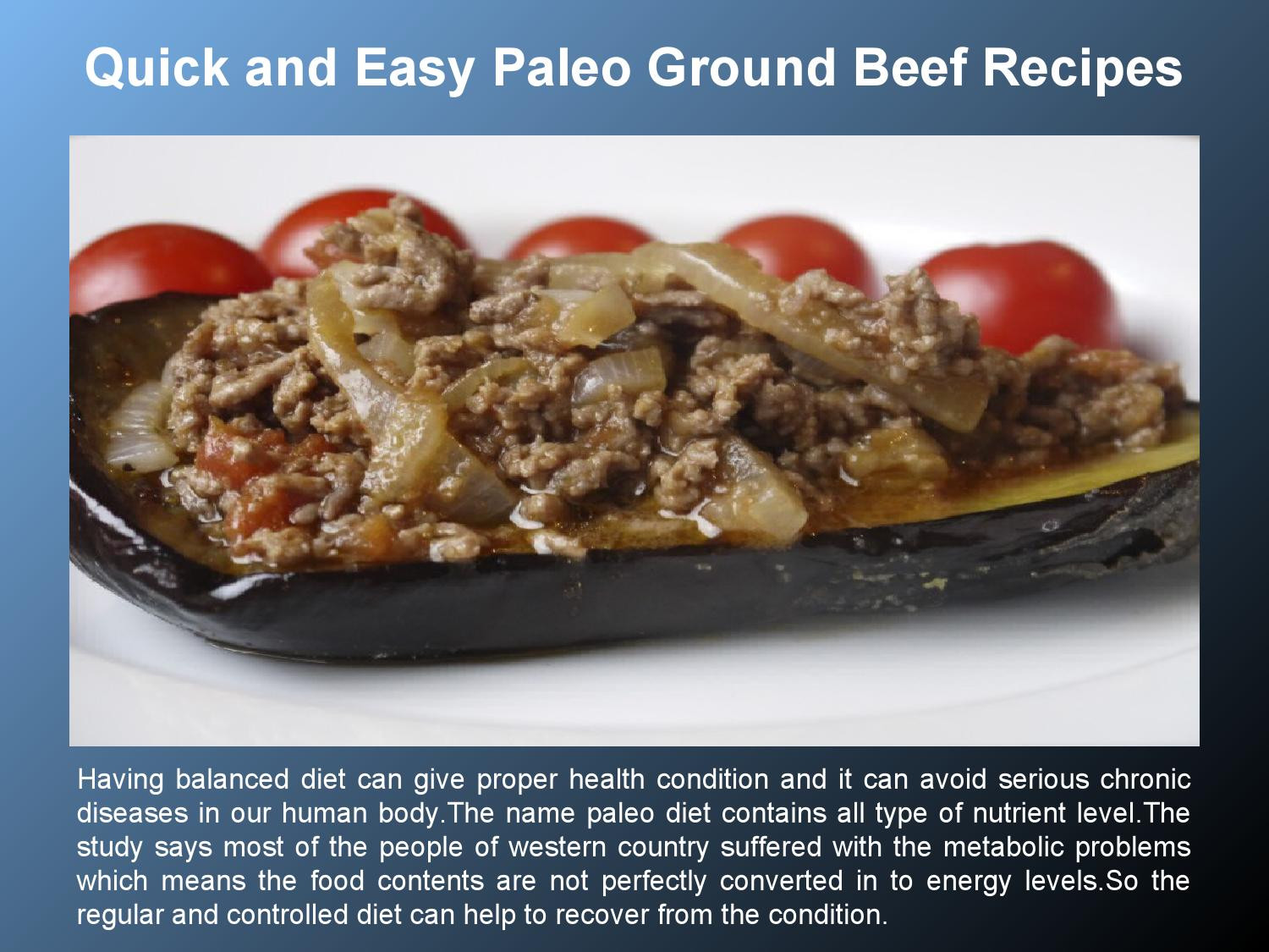 Quick Healthy Ground Beef Recipes  Quick Paleo Ground Beef Recipes by Marlin Dee issuu