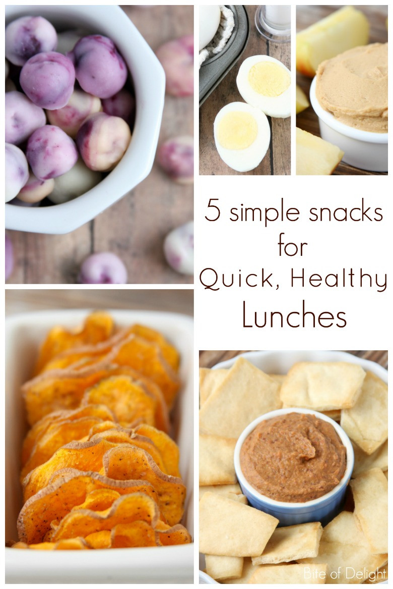 Quick Healthy Lunches  5 Simple Snacks for Quick Healthy Lunches