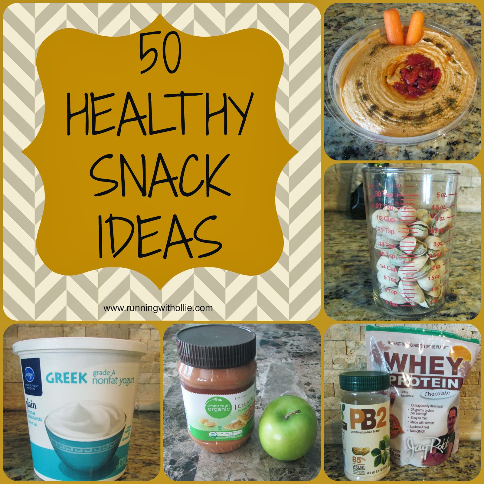 Quick Healthy Snacks  RUNNING WITH OLLIE 50 Quick & Easy Healthy Snack Ideas