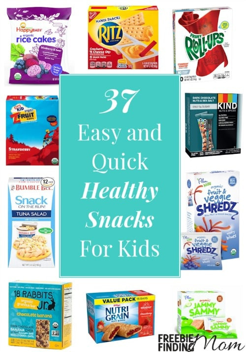 Quick Healthy Snacks For Kids  37 Easy and Quick Healthy Snacks For Kids