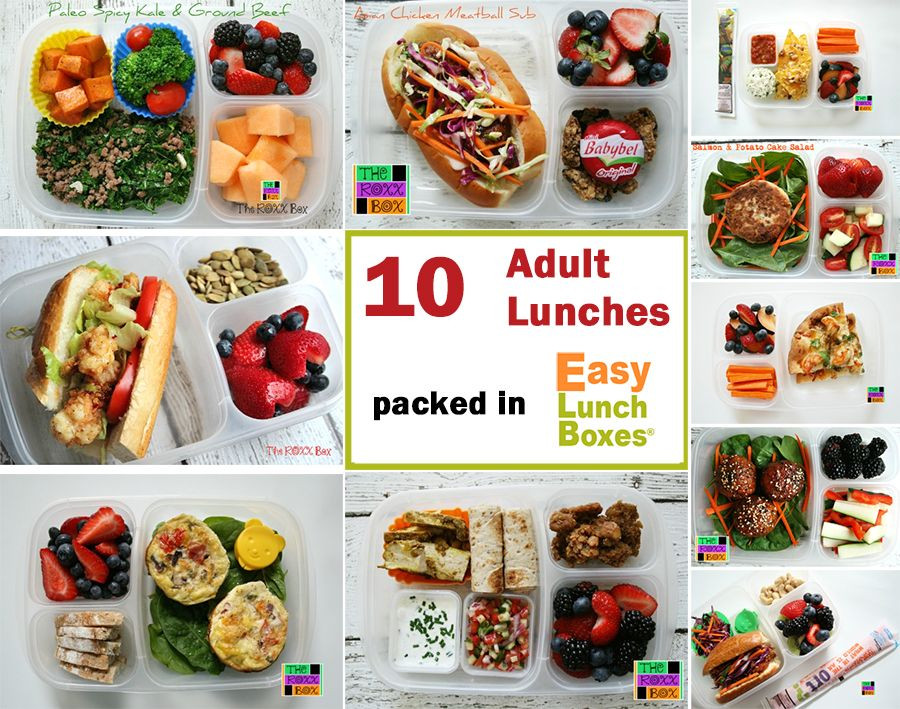 Quick Healthy Snacks For Work  10 adult lunches Packed to go in EasyLunchboxes