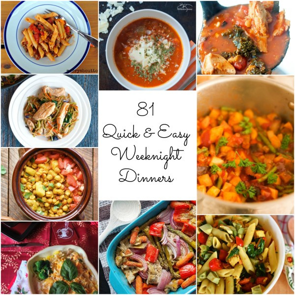 Quick Healthy Weeknight Dinners  81 Quick and Easy Weeknight Dinners