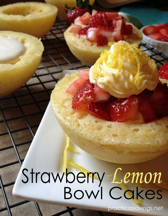 Quick Summer Desserts  Quick Summer Dessert Strawberry Lemon Cake Bowls