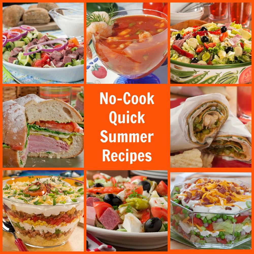 Quick Summer Dinners  No Cook Quick Summer Recipes