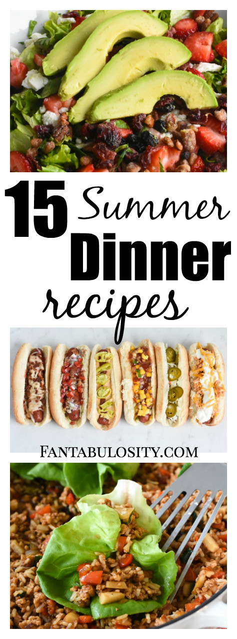 Quick Summer Dinners  Summer Dinner Ideas Fantabulosity