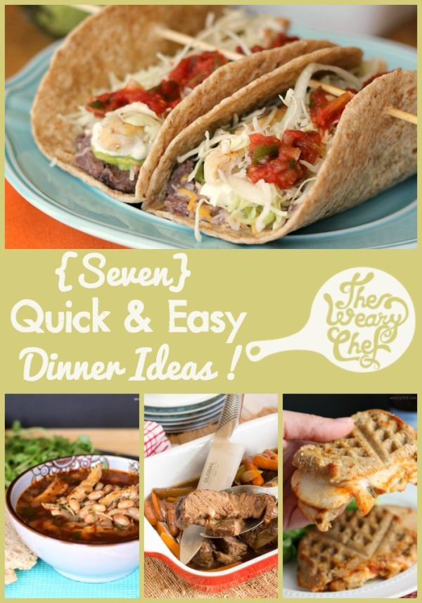 Quick Summer Dinners  Easy Weekly Dinner Menu 124 Mommy needs a break The