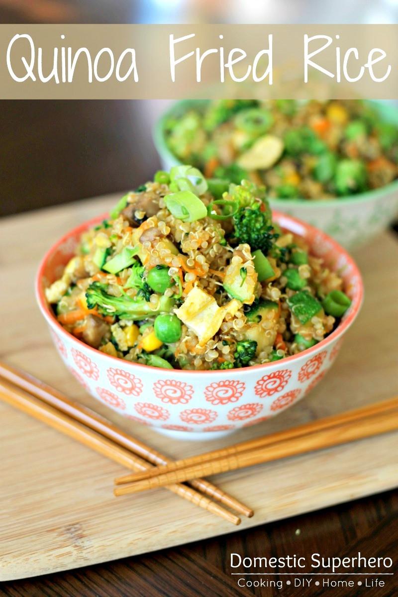 Quinoa Recipe Healthy  Quinoa Fried Rice Domestic Superhero