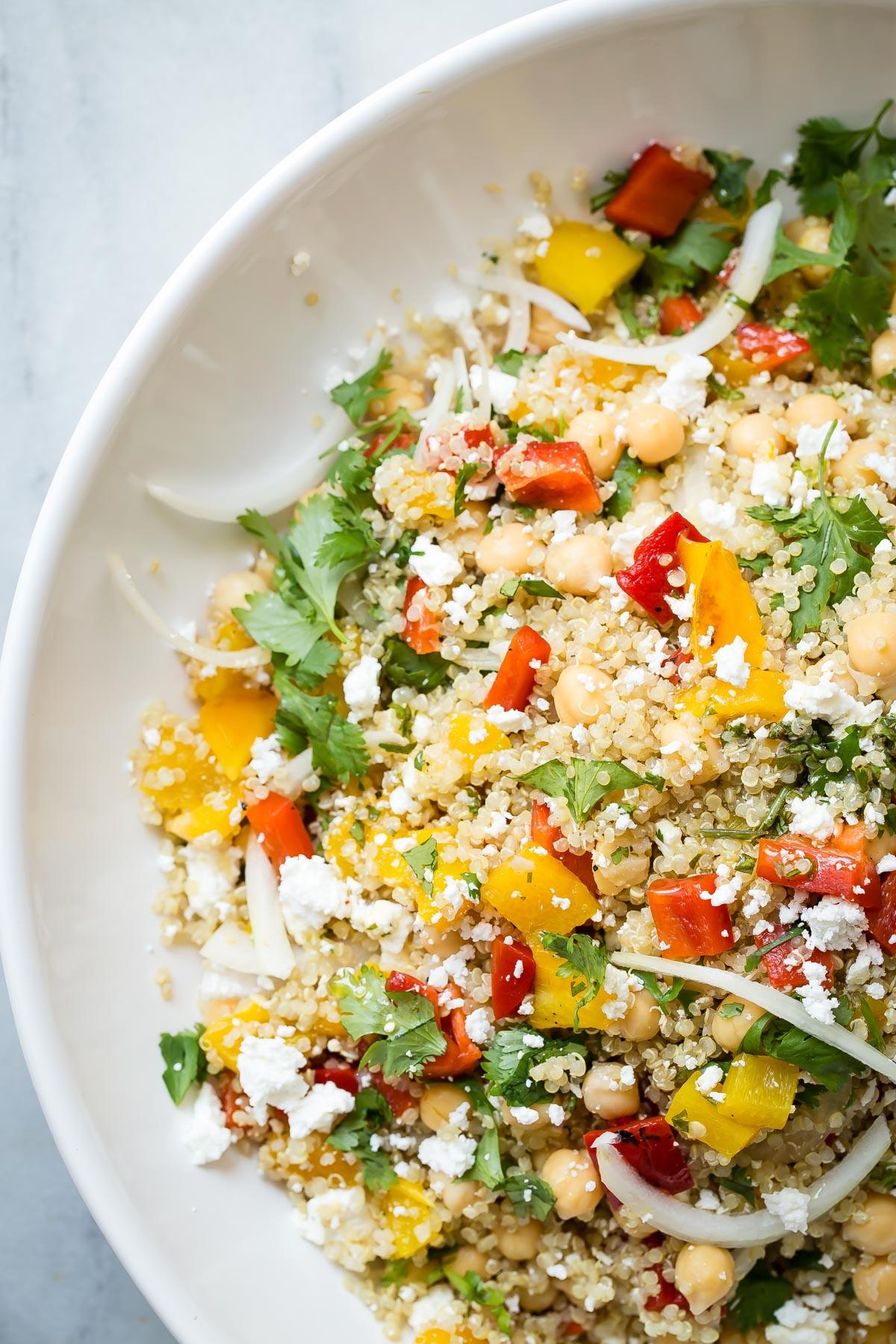Quinoa Recipe Healthy  Healthy Quinoa Salad with Feta Cheese