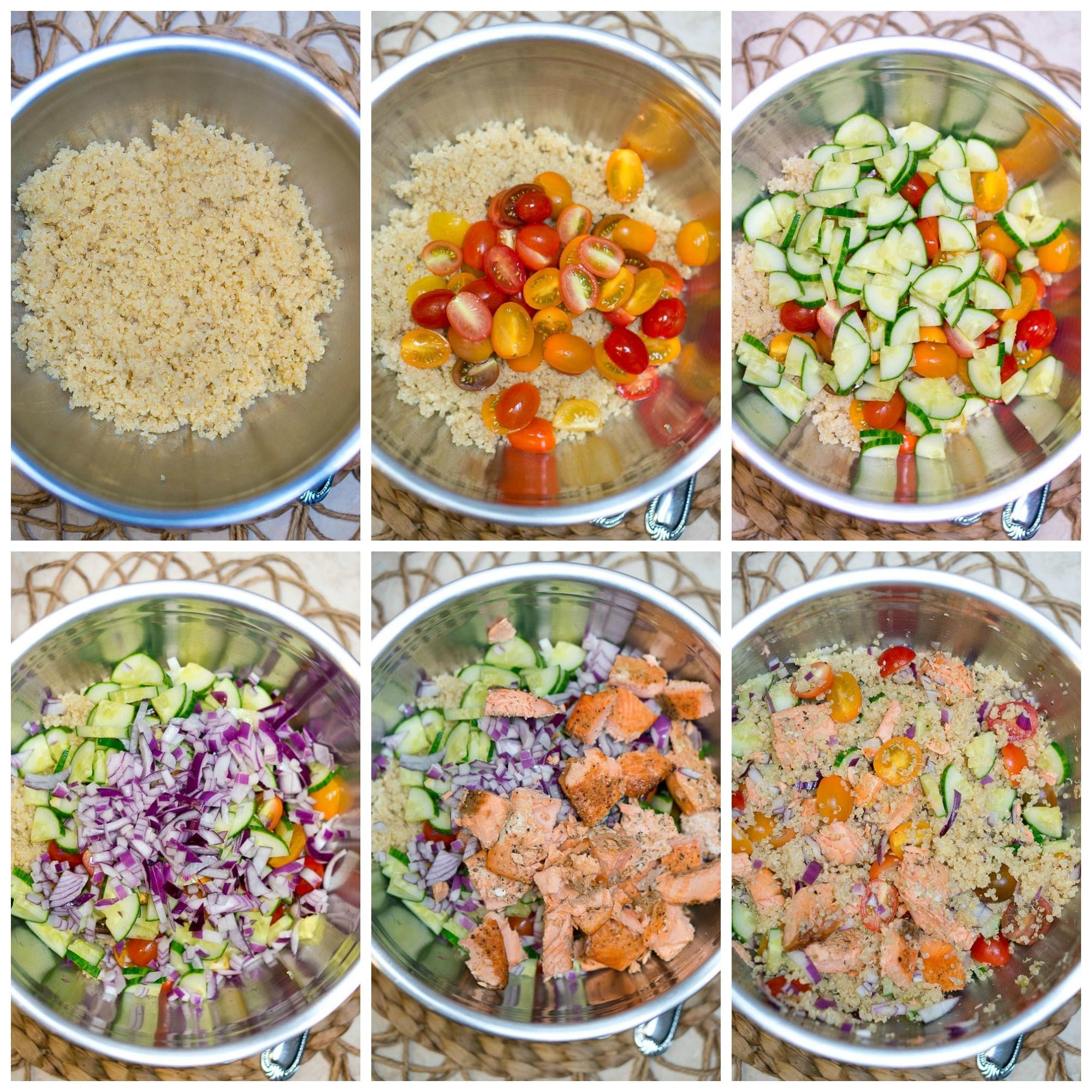 Quinoa Recipe Healthy  Quinoa Salad with Salmon