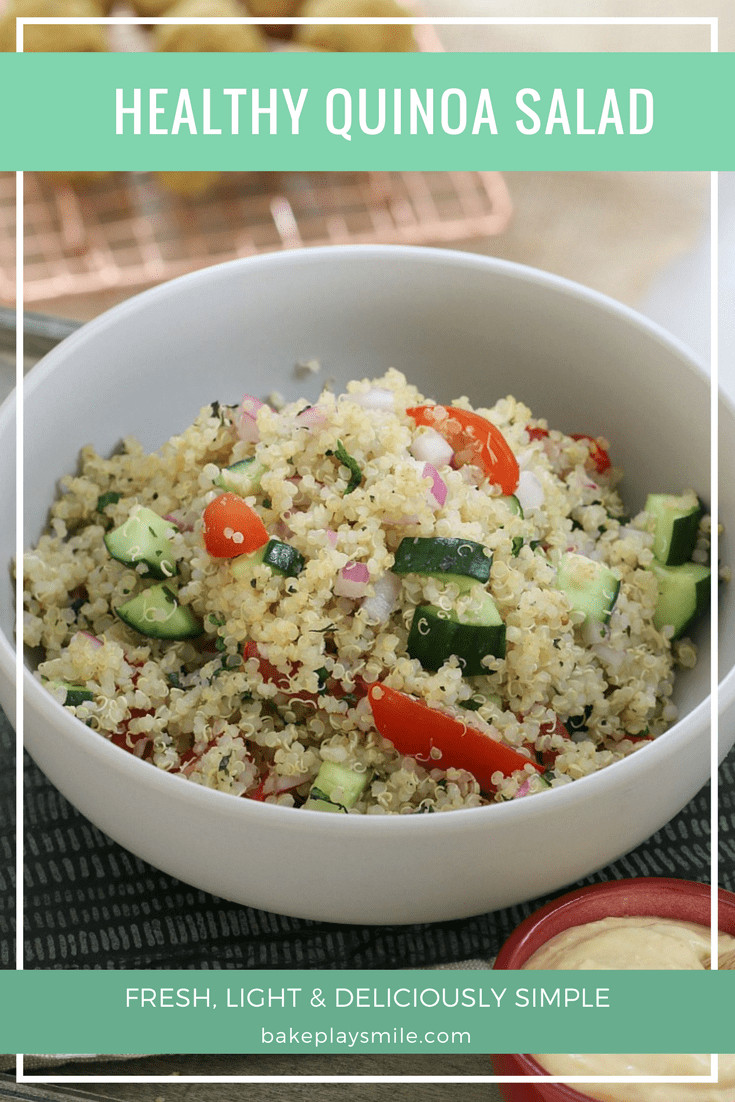 Quinoa Salad Healthy  Healthy Quinoa Salad Fresh Fast & Delicious Bake Play