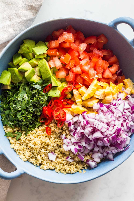 Quinoa Salad Healthy  Mexican Quinoa Salad Green Healthy Cooking
