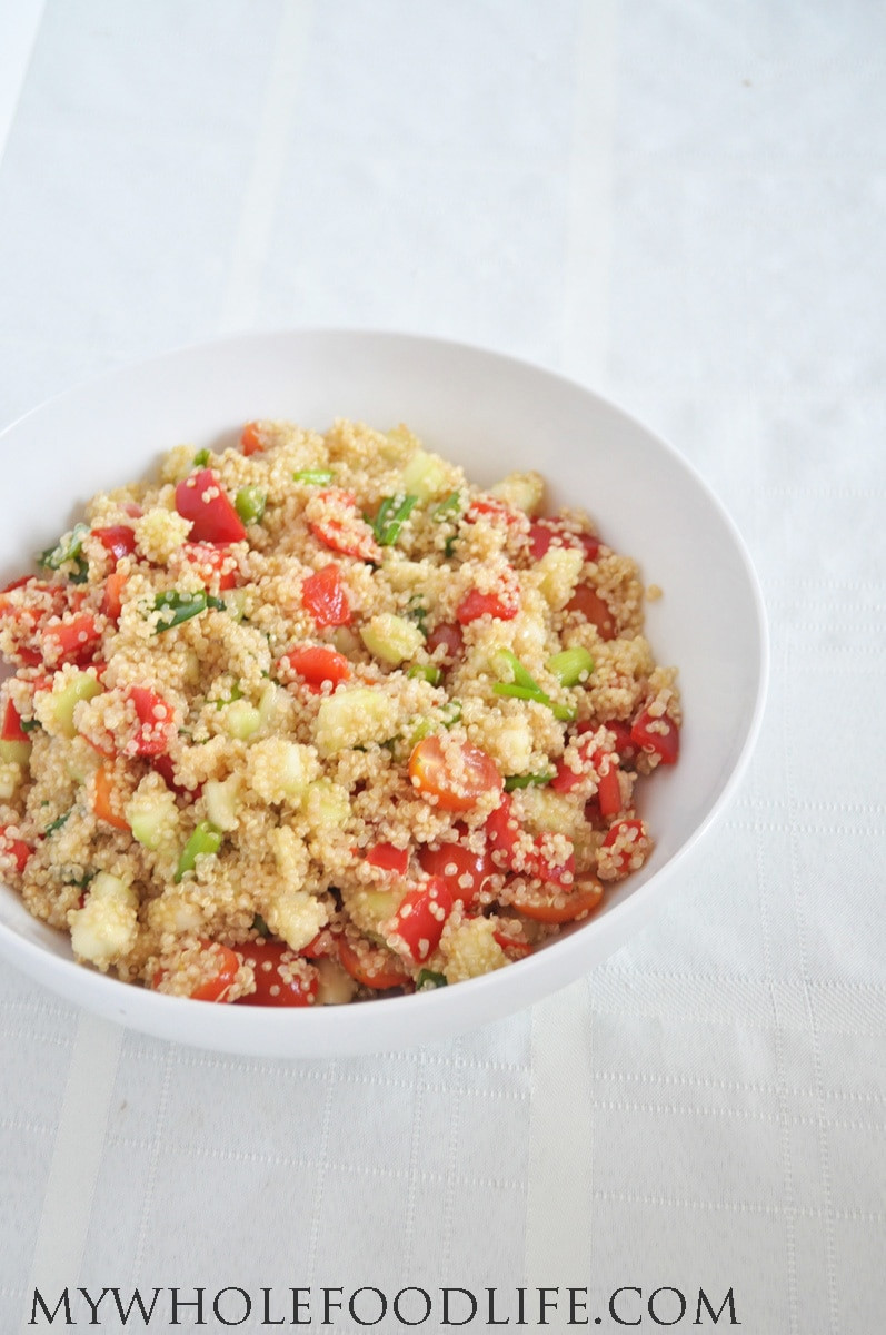 Quinoa Salad Healthy  Healthy Quinoa Salad My Whole Food Life
