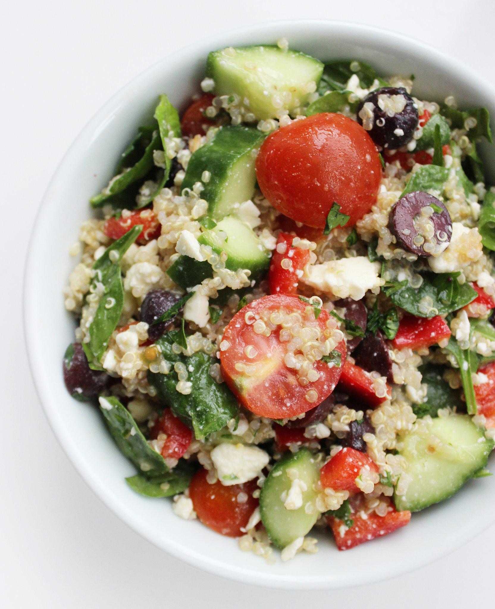 Quinoa Salad Recipes Healthy  Healthy Mediterranean Quinoa Salad Recipe