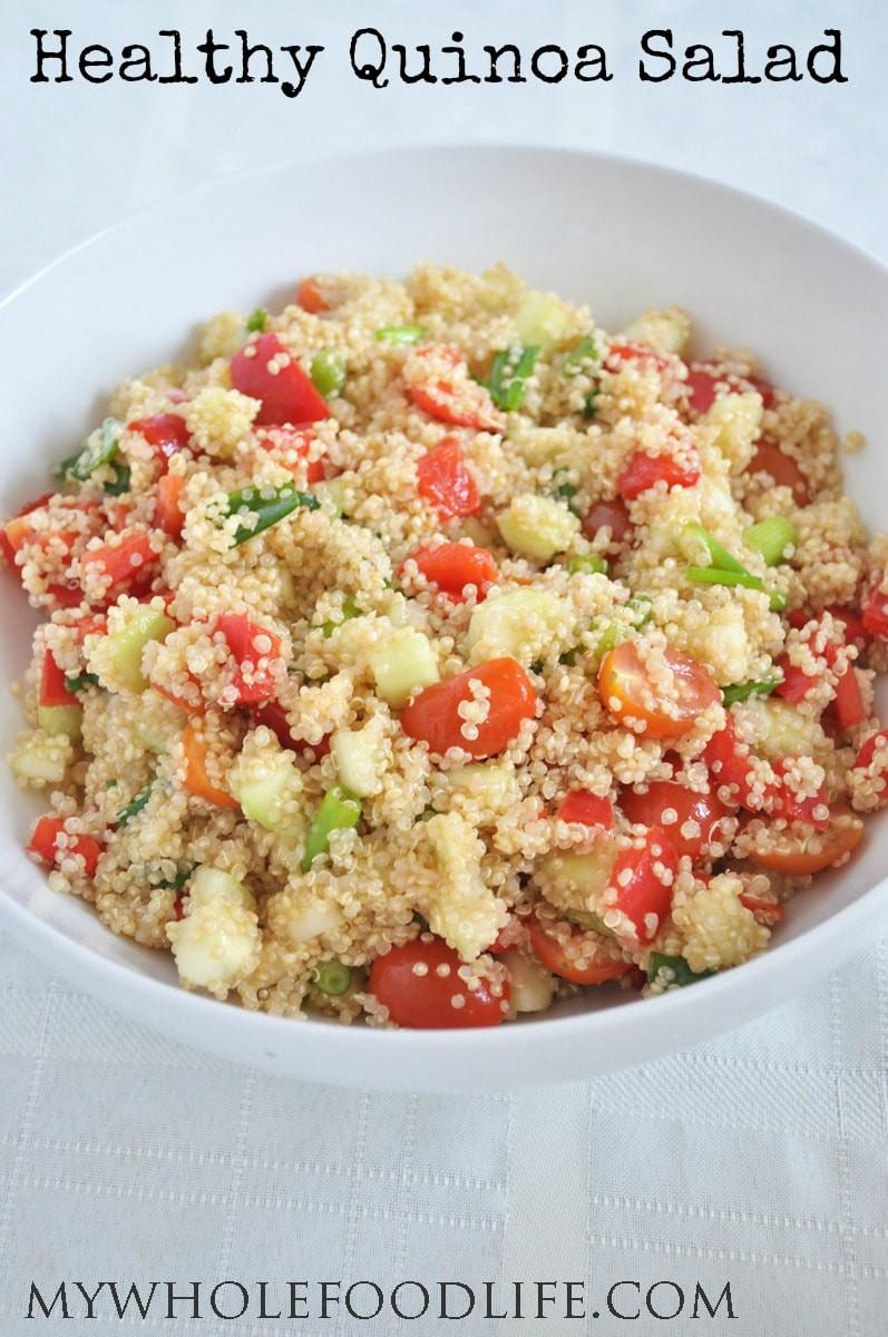 Quinoa Salad Recipes Healthy  Healthy Quinoa Salad My Whole Food Life