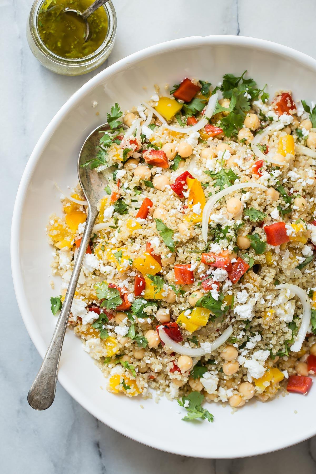 Quinoa Salad Recipes Healthy  Healthy Quinoa Salad with Feta Cheese