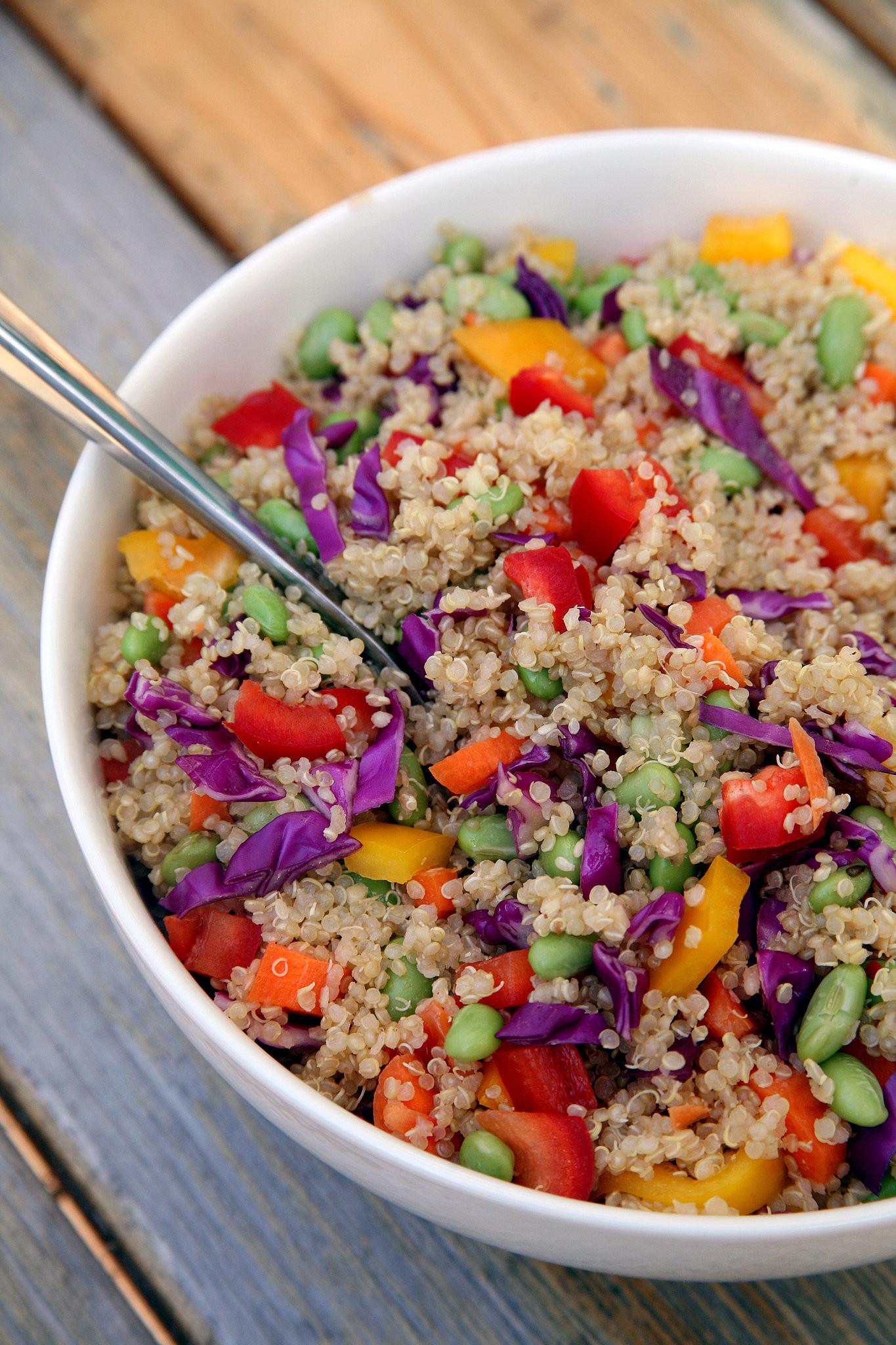 Quinoa Salad Recipes Healthy  Sesame Ginger Quinoa Salad Vegan