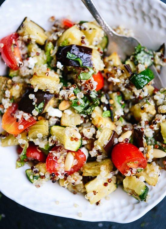 Quinoa Salad Recipes Healthy  Mediterranean Quinoa Salad with Roasted Summer Ve ables