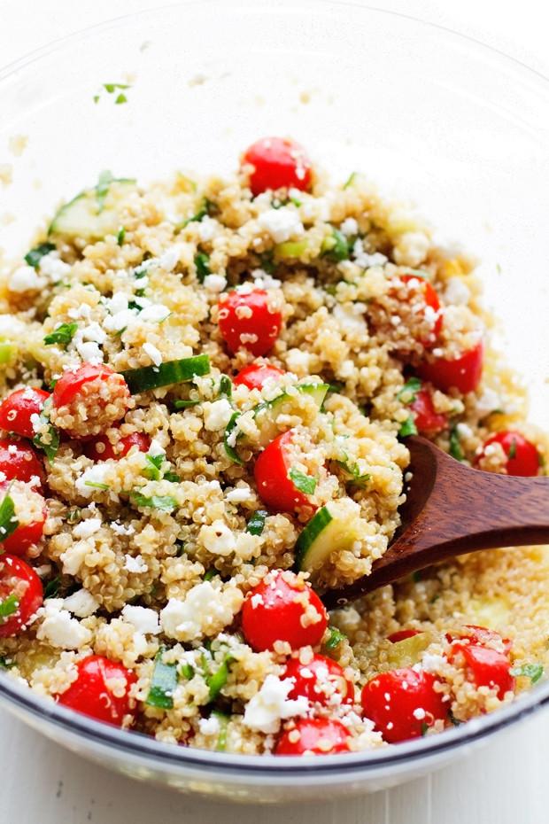 Quinoa Summer Salad  Summer Tomato and Cucumber Quinoa Salad Recipe