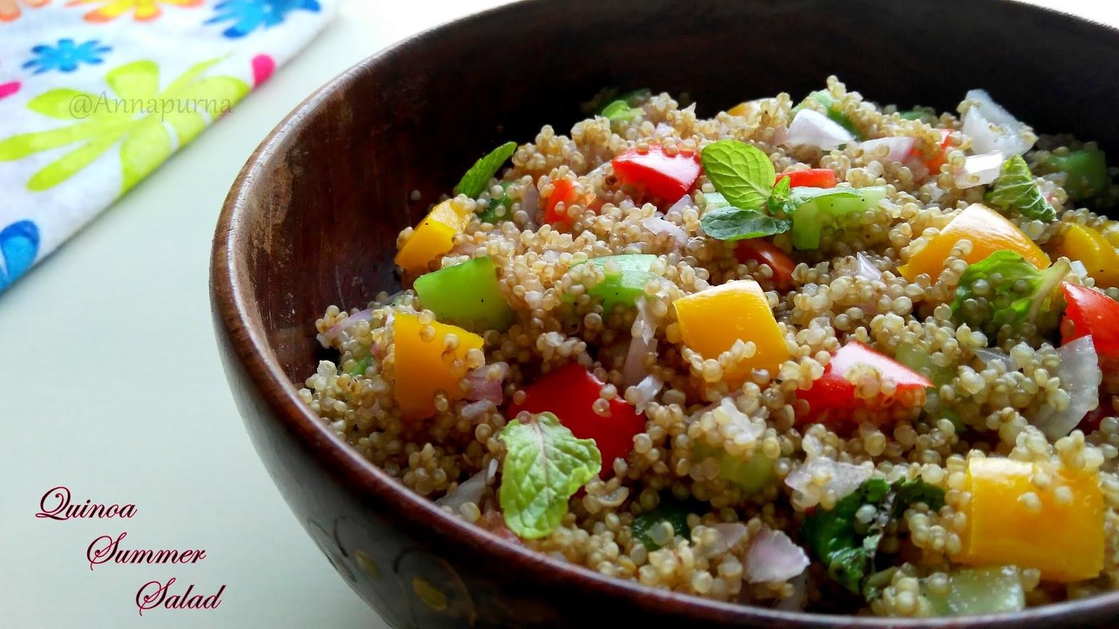 Quinoa Summer Salad  Annapurna Quinoa Summer Salad
