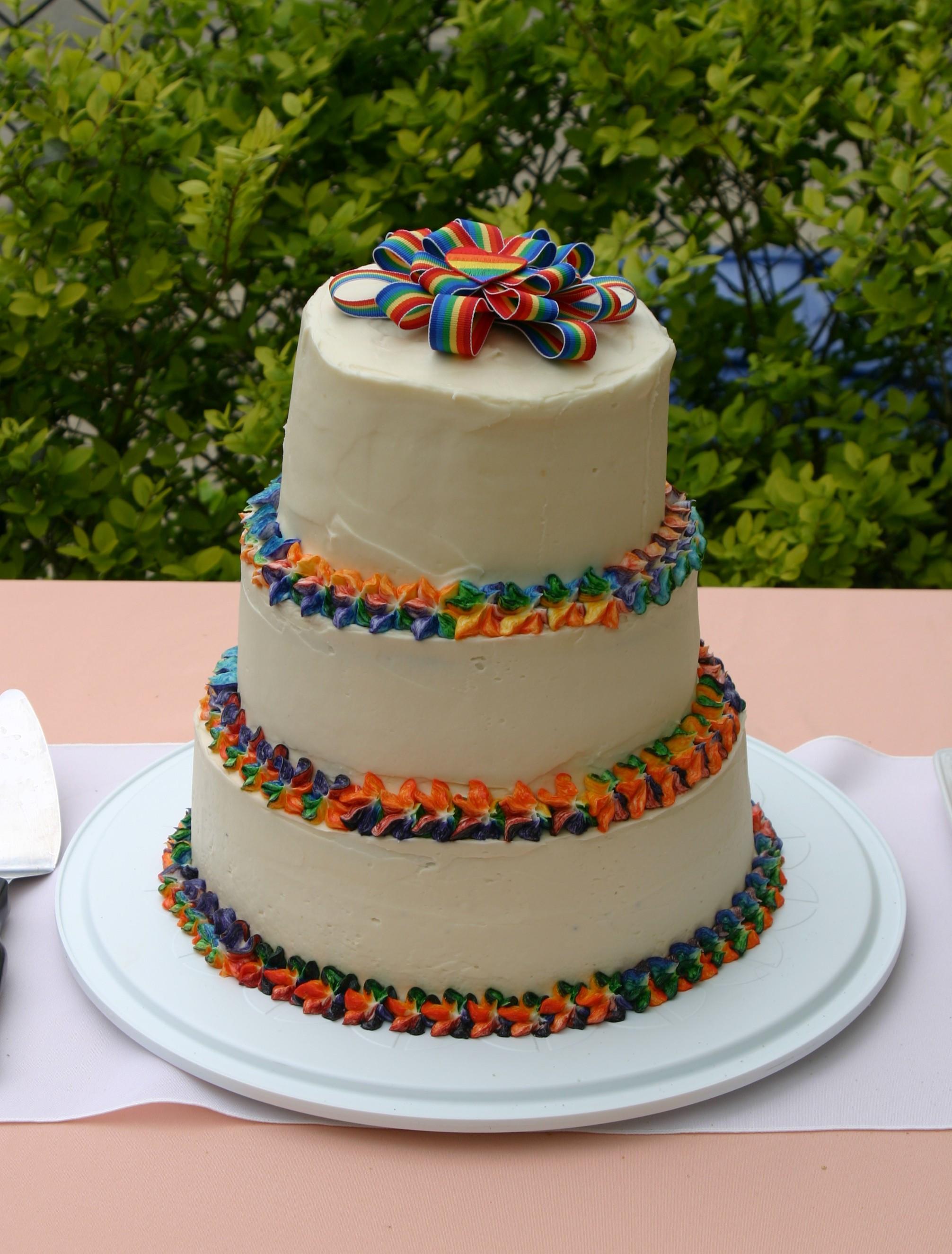 Rainbow Wedding Cakes  My First Wedding Cake