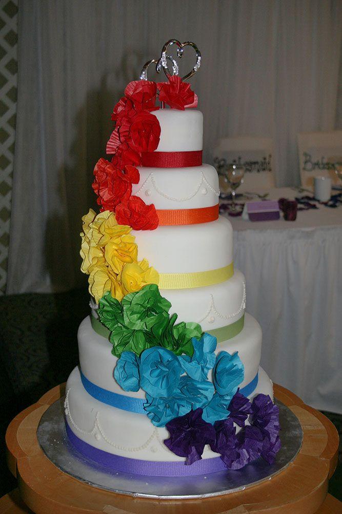 Rainbow Wedding Cakes  Rainbow Wedding Cake