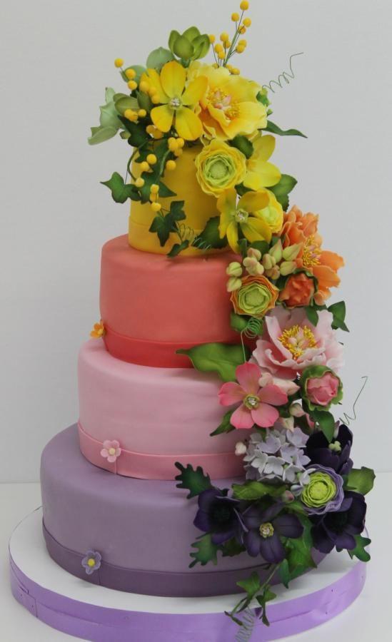Rainbow Wedding Cakes  Rainbow Wedding Cakes