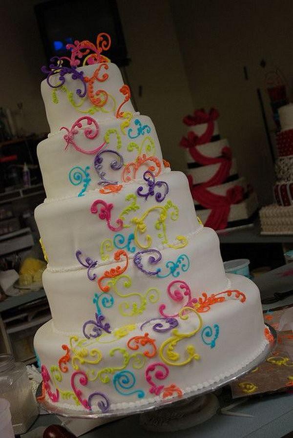 Rainbow Wedding Cakes  15 Cute Lesbian Wedding Ideas 2017