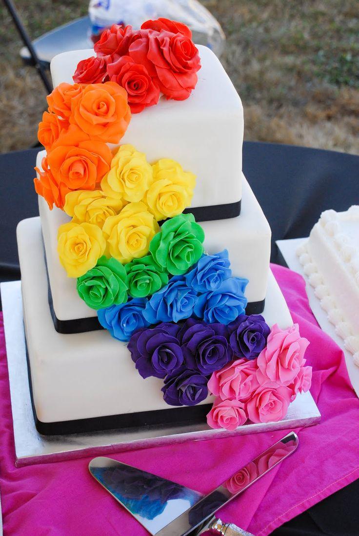 Rainbow Wedding Cakes  25 best ideas about Rainbow wedding cakes on Pinterest