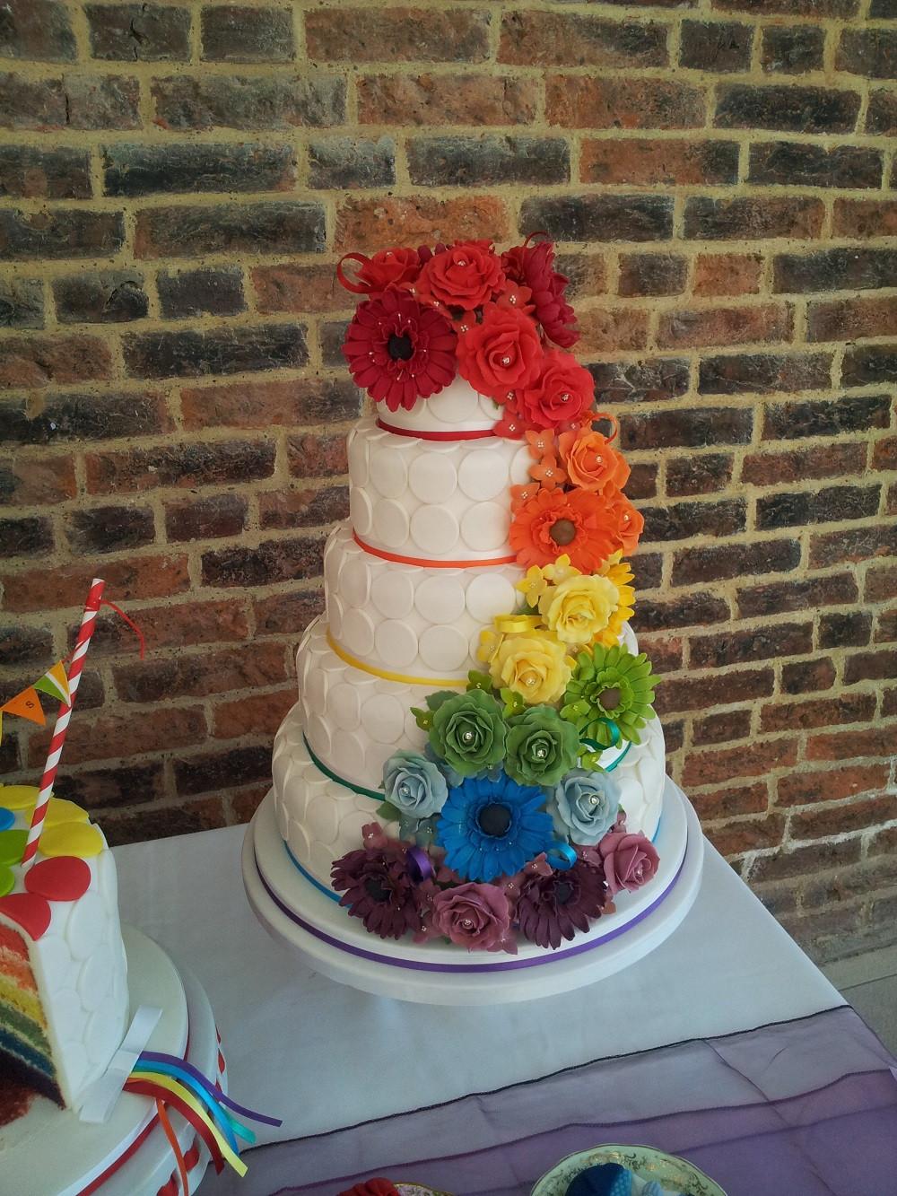 Rainbow Wedding Cakes  Wedding