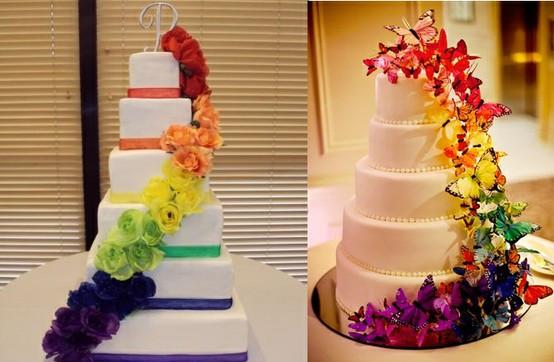 Rainbow Wedding Cakes  Rainbow Wedding Rainbow Wedding Weddbook